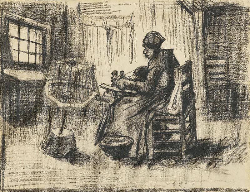 WOMAN REELING YARN. Vincent van Gogh