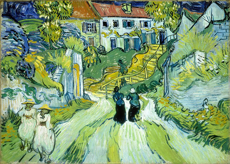 Street and Steps in Auvers with Figures. Vincent van Gogh