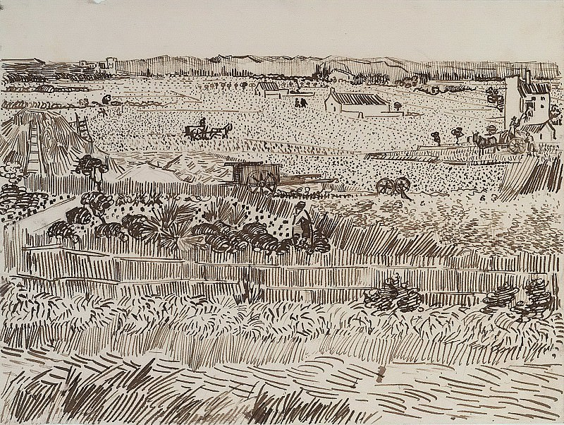 Harvest in Provence. Vincent van Gogh