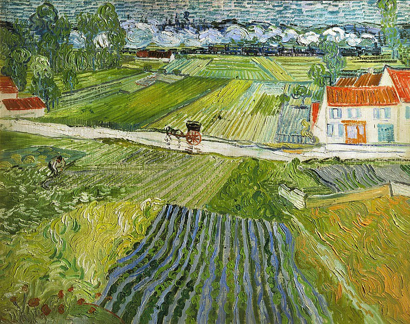 Landscape at Auvers after Rain. Vincent van Gogh
