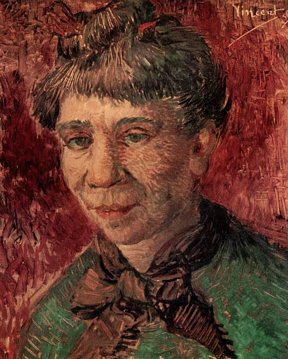 Portrait of a Woman (Madame Tanguy?). Vincent van Gogh