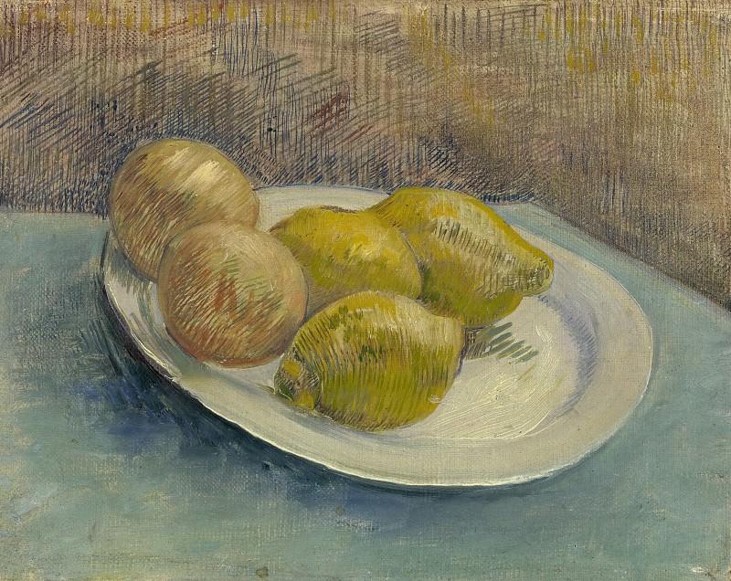 Натюрморт с лимонами на тарелке. Винсент Ван Гог