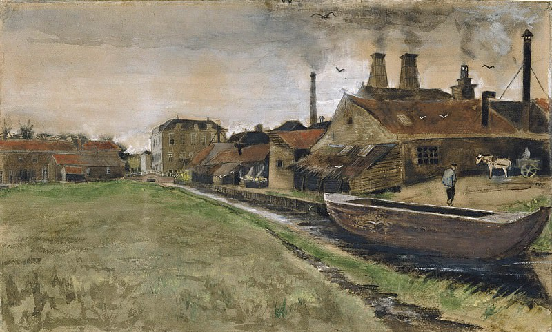 Iron Mill in The Hague. Vincent van Gogh