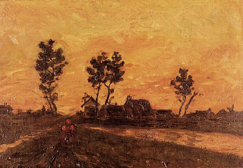 Landscape at Sunset. Vincent van Gogh