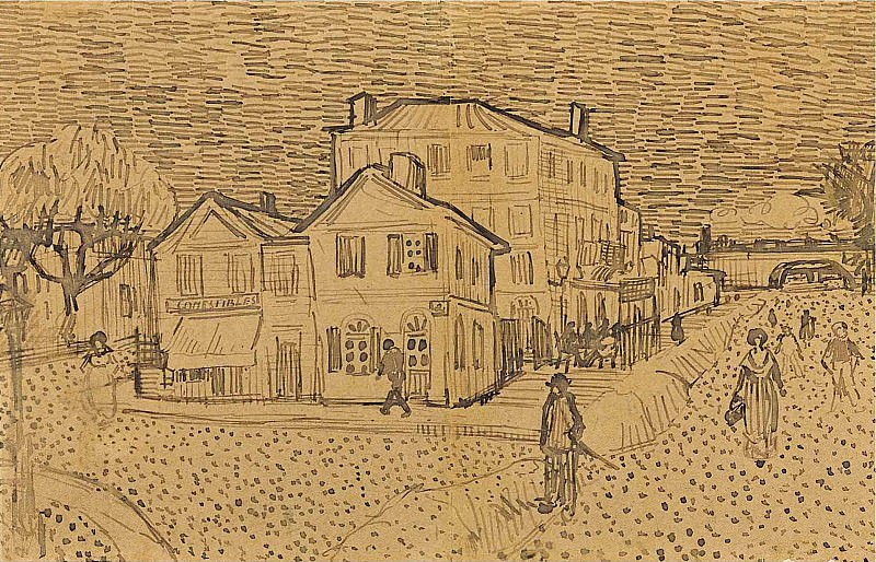 Vincents House in Arles. Vincent van Gogh