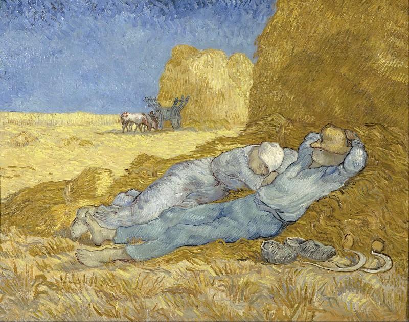 Noon Rest from (after Millet). Vincent van Gogh