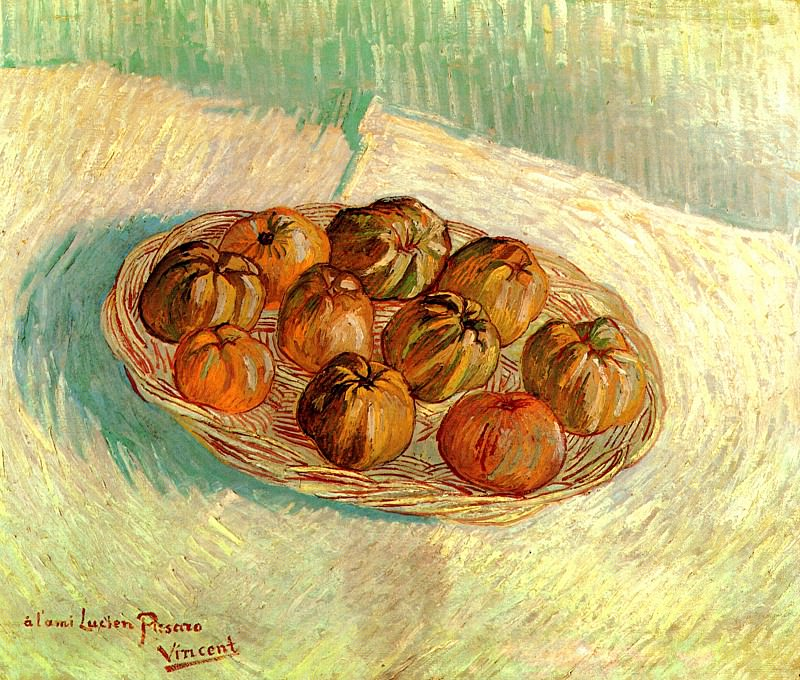 Still Life with Basket of Apples (to Lucien Pissarro). Vincent van Gogh