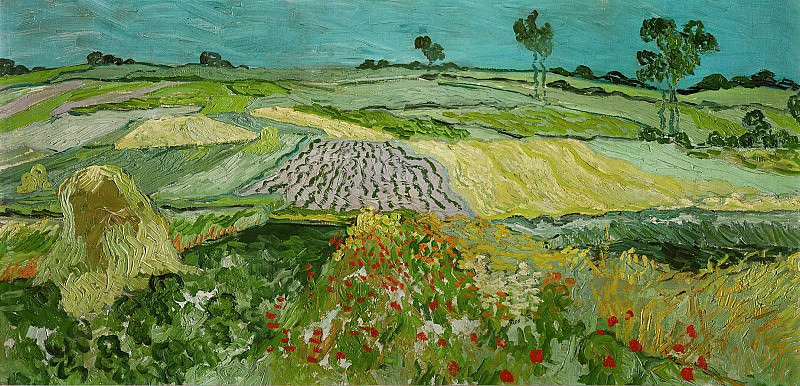 Wheat Fields near Auvers. Vincent van Gogh
