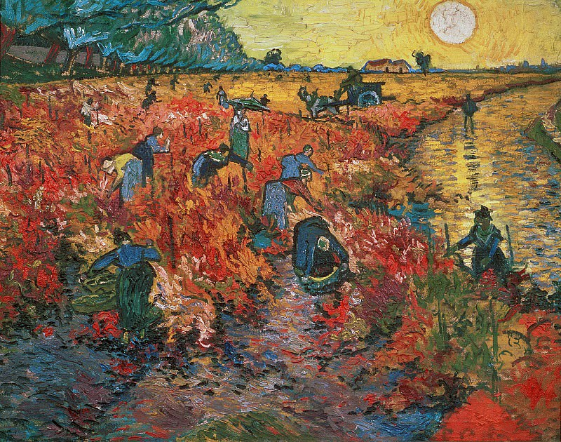 The Red Vineyards in Arles. Vincent van Gogh
