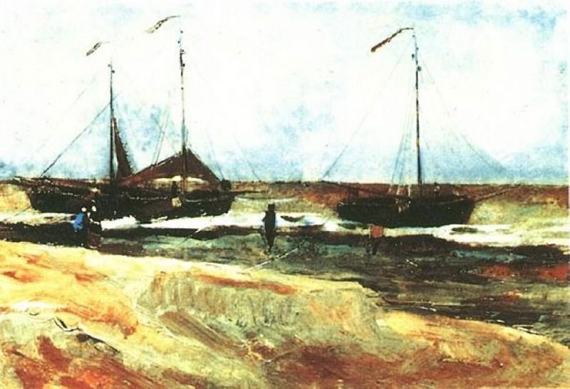 Beach at Scheveningen in Calm Weather. Vincent van Gogh
