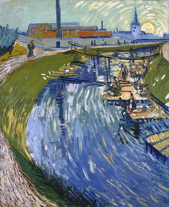 Canal with Women Washing. Vincent van Gogh