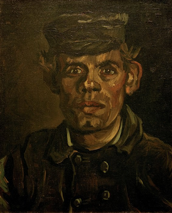 Head of a Young Peasant in a Peaked Cap. Vincent van Gogh