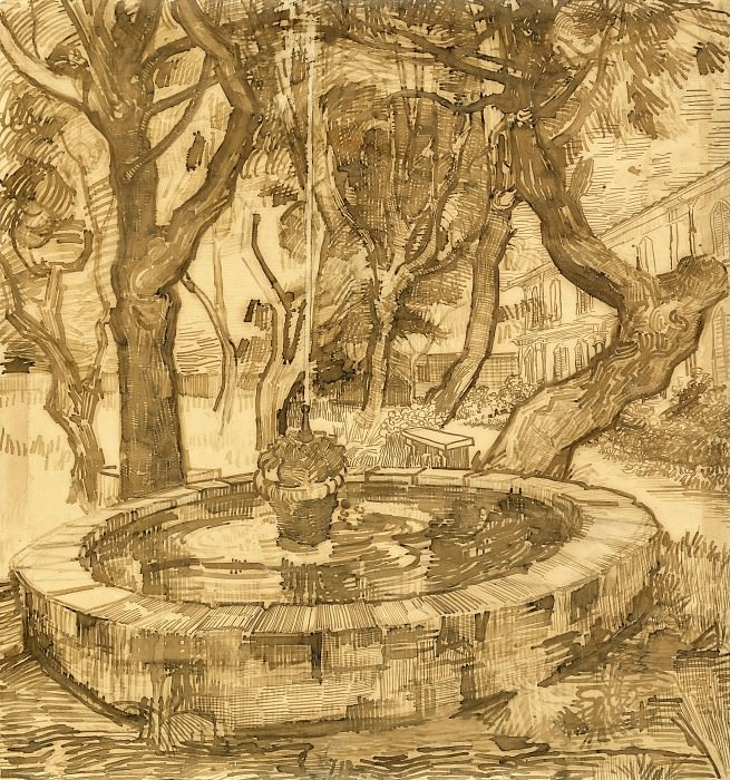 Fountain in the Garden of Saint-Paul Hospital. Vincent van Gogh