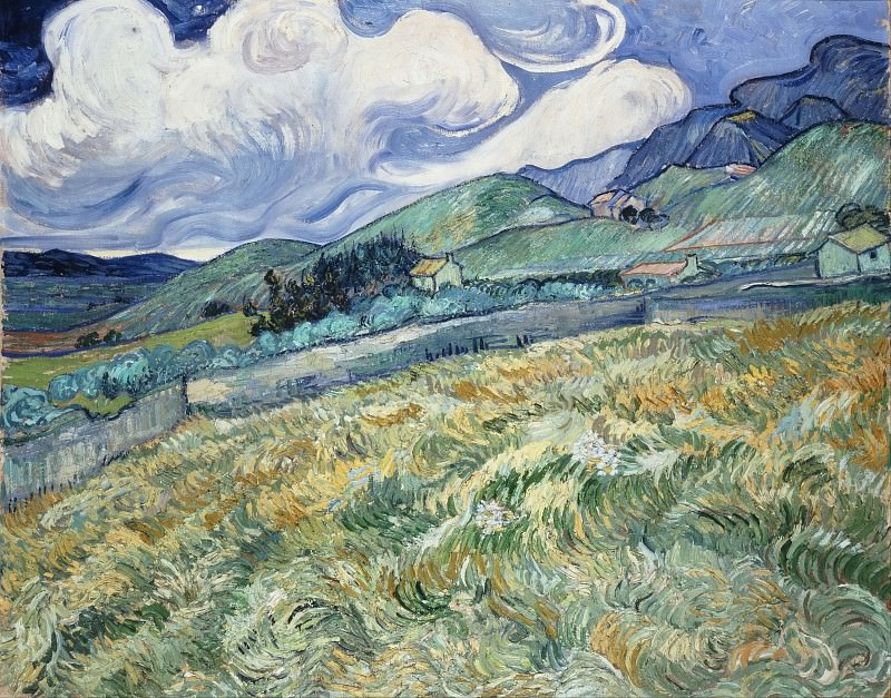 Mountainous Landscape Behind Saint-Paul Hospital. Vincent van Gogh
