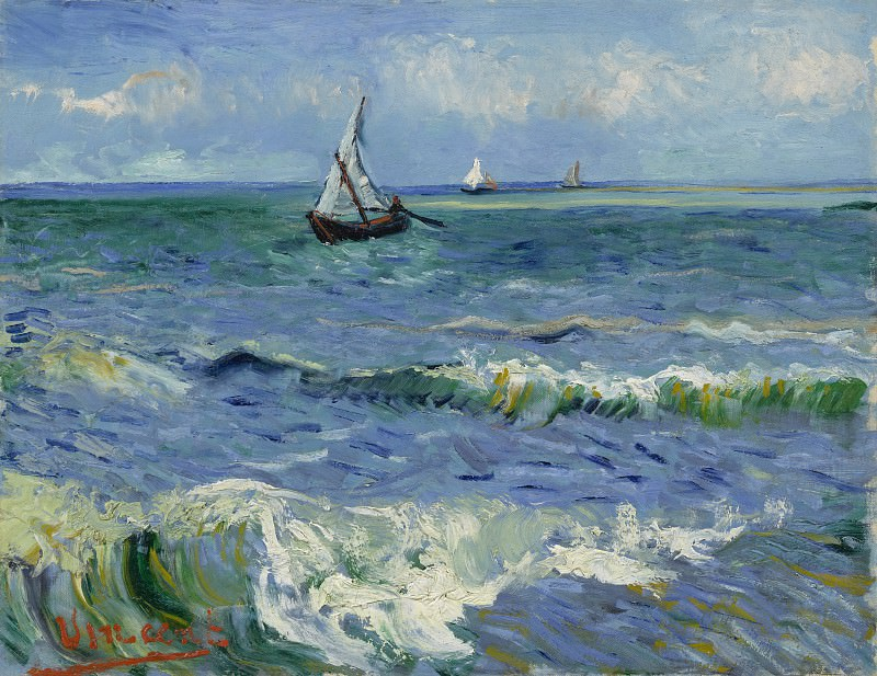 Seascape at Saintes-Maries. Vincent van Gogh