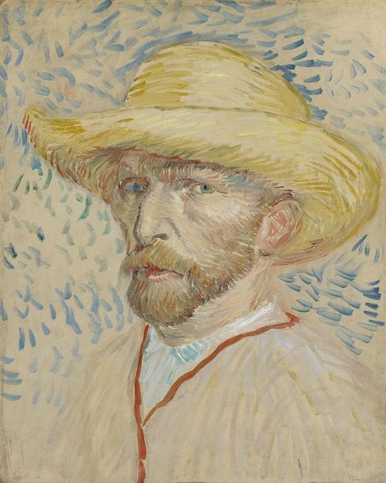 Автопортрет в соломенной шляпе. Винсент Ван Гог
