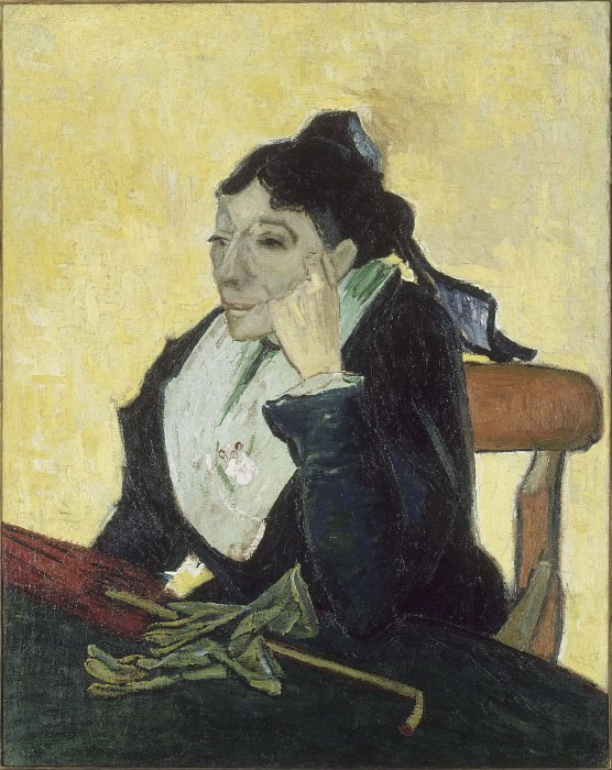A L Arlesienne (Madame Ginoux with Gloves and Umbre). Vincent van Gogh