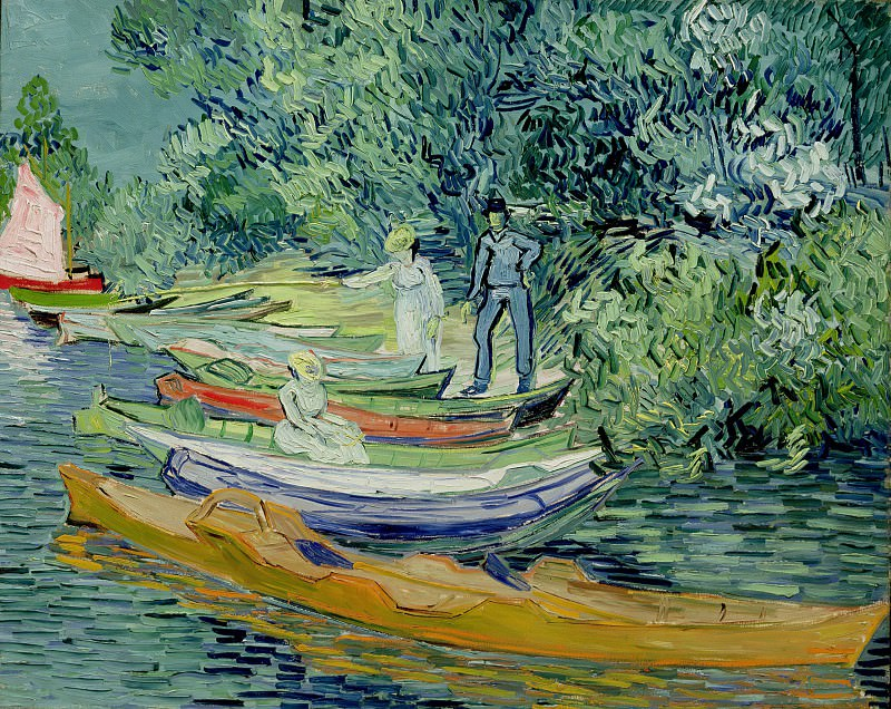 Bank of the Oise at Auvers. Vincent van Gogh