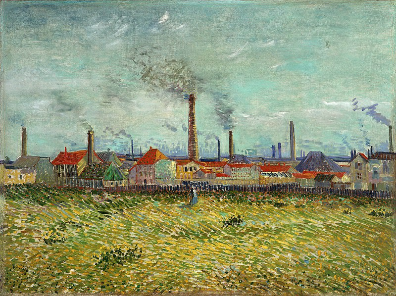 Factories at Asnieres, Seen from the Quai de Clichy. Vincent van Gogh