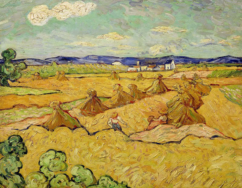 The Haystacks. Vincent van Gogh