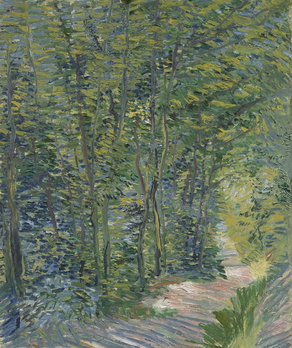 Path in the Woods. Vincent van Gogh