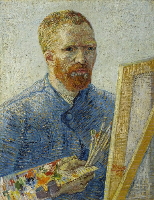 Self-Portrait in Front of the Easel. Vincent van Gogh