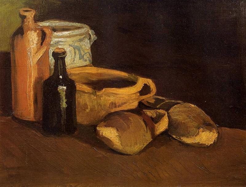 Still Life with Clogs and Pots. Vincent van Gogh