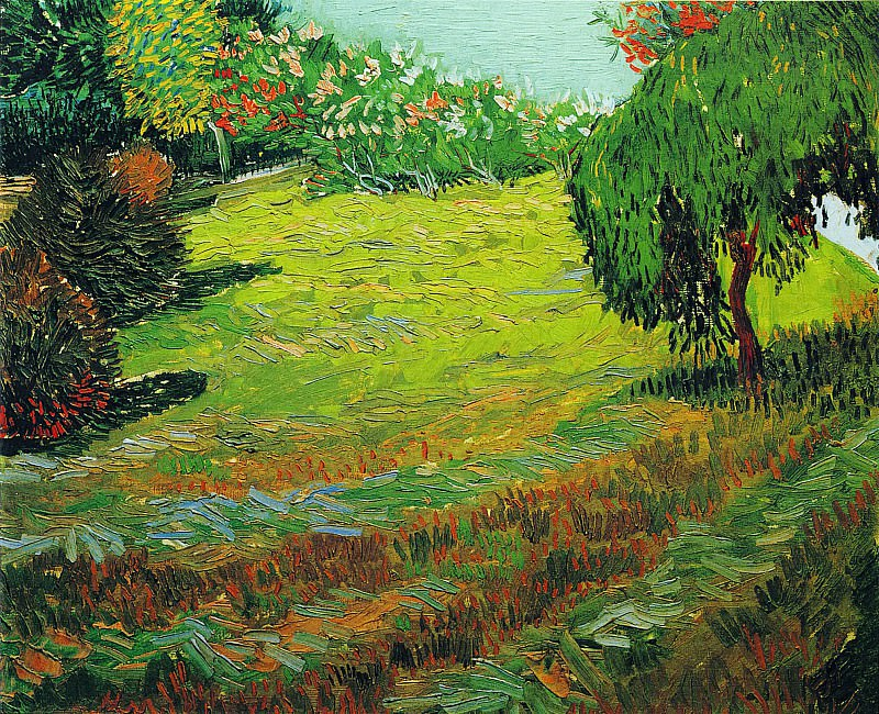 Garden with Weeping Willow. Vincent van Gogh