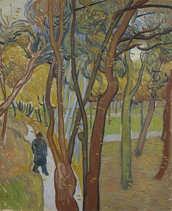 The Walk (Falling Leaves). Vincent van Gogh