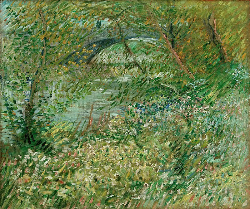 Banks of the Seine with the Pont de Clichy in the Spring. Vincent van Gogh