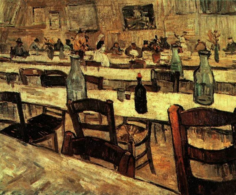 Interior of a Restaurant in Arles. Vincent van Gogh