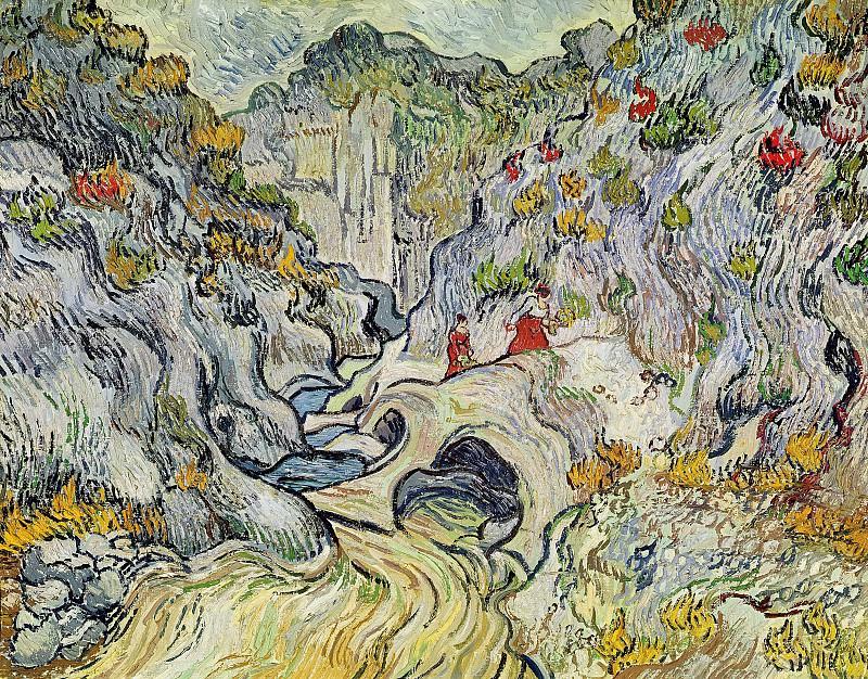 A Path through a Ravine. Vincent van Gogh