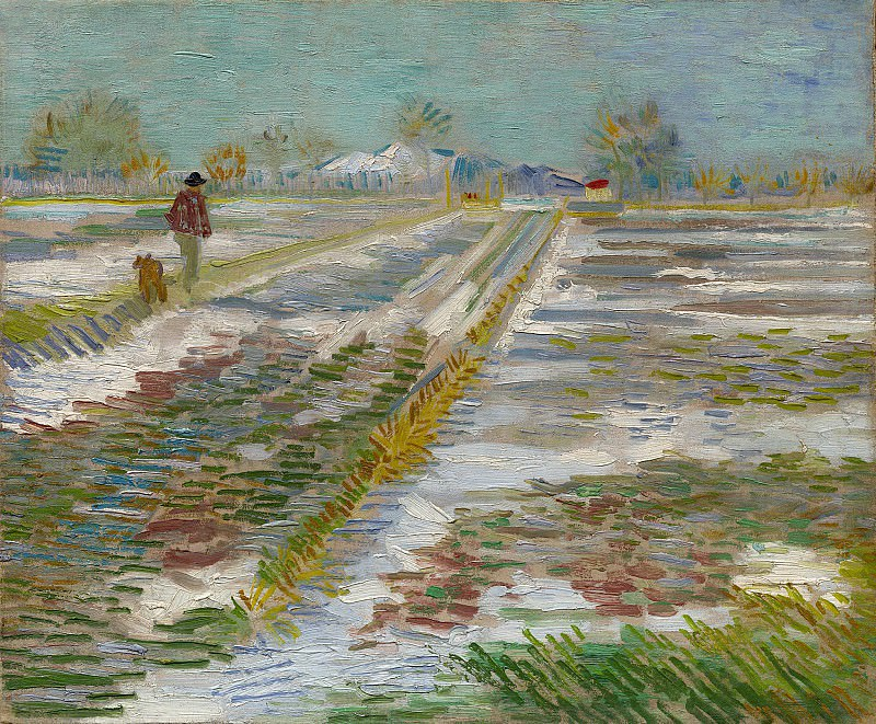 Landscape with Snow. Vincent van Gogh