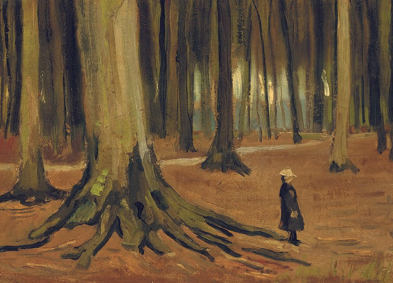 Girl in the Woods. Vincent van Gogh