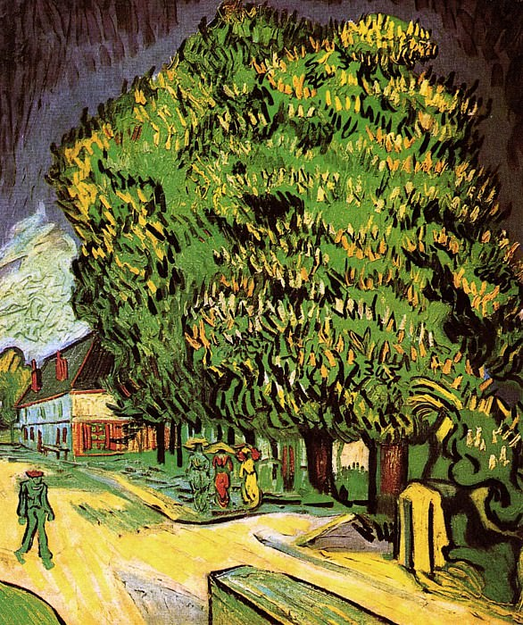 Chestnut Trees in Blossom. Vincent van Gogh