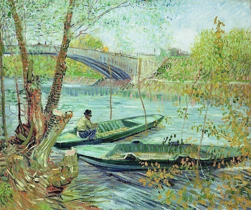 Fishing in the Spring, Pont de Clichy. Vincent van Gogh