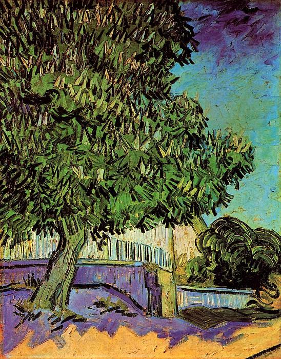 Chestnut Tree in Blossom. Vincent van Gogh