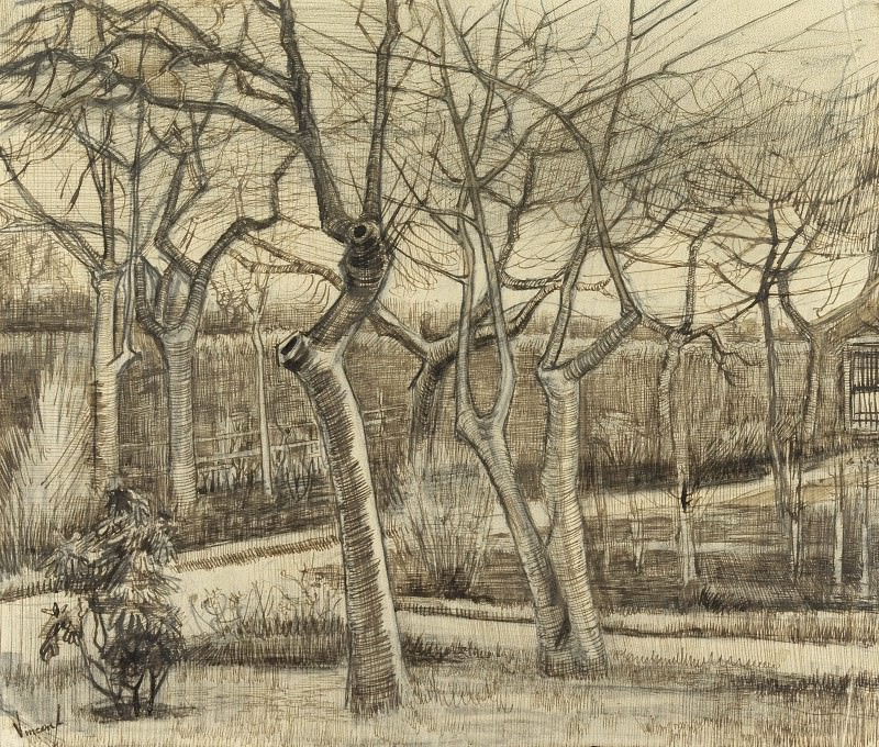 The Vicarage Garden. Vincent van Gogh