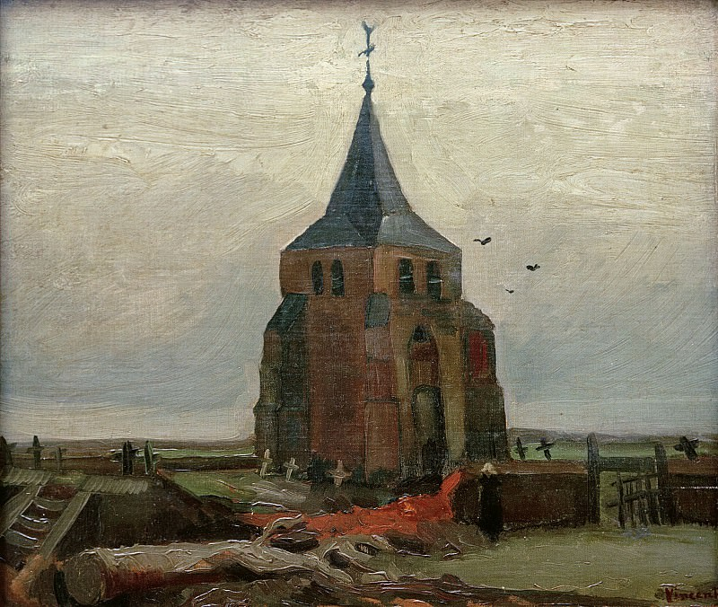 Old Church at Nuenen. Vincent van Gogh