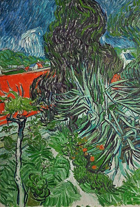 Doctor Gachets Garden in Auvers. Vincent van Gogh