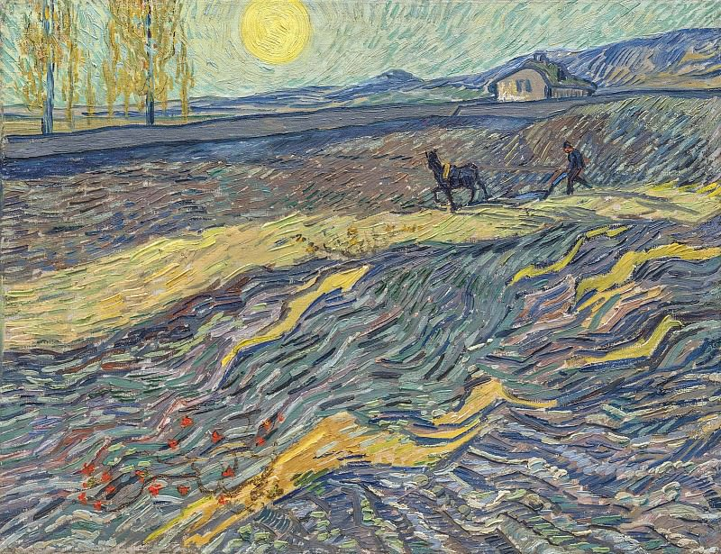 Enclosed Field with Ploughman. Vincent van Gogh