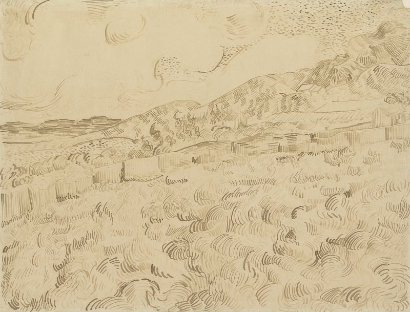 Wheatfield After a Storm. Vincent van Gogh