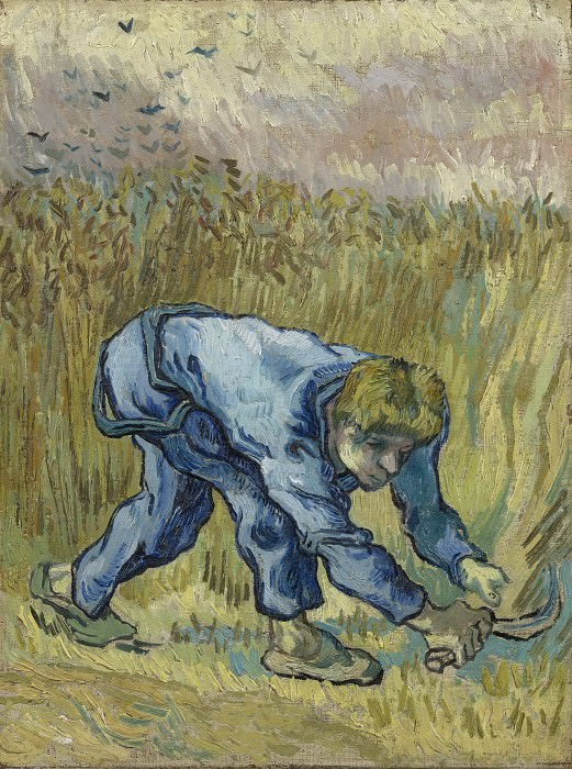 Reaper with Sickle (after Millet). Vincent van Gogh