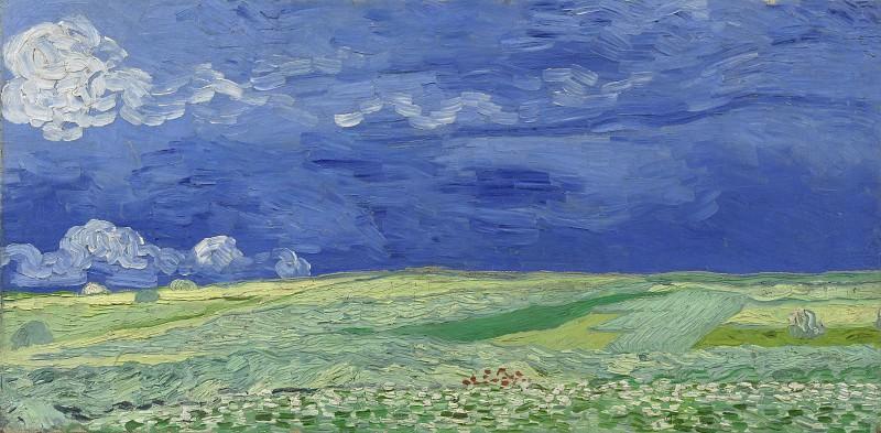 Wheat Field Under Clouded Sky. Vincent van Gogh