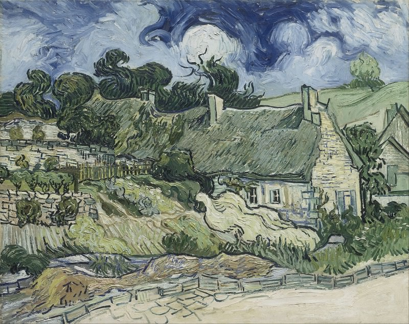Houses with Thatched Roofs, Cordeville. Vincent van Gogh