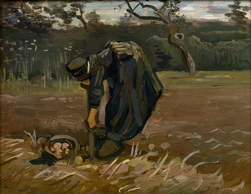Peasant Woman Digging Up Potatoes. Vincent van Gogh