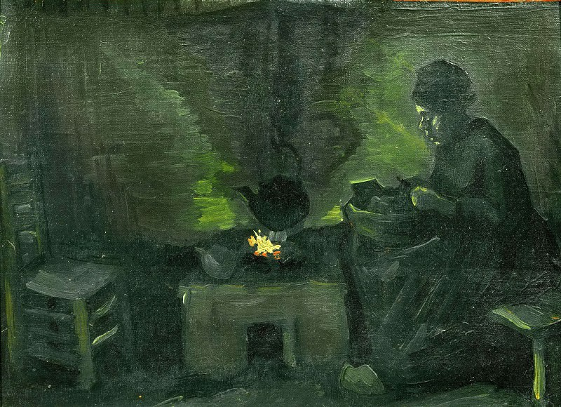 Peasant Woman by the Fireplace. Vincent van Gogh