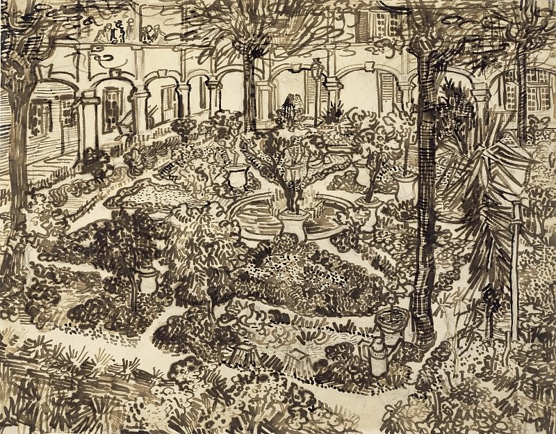 The Garden of the Hospital of Arles. Vincent van Gogh