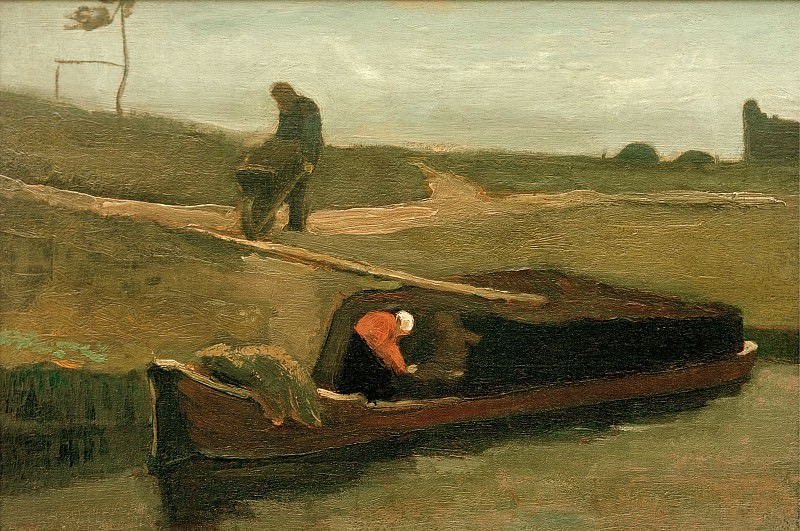 Peat boat with two figures. Vincent van Gogh