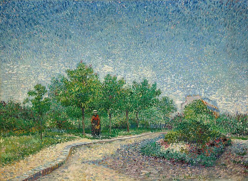Lane in Voyer d´Argenson Park at Asnieres. Vincent van Gogh